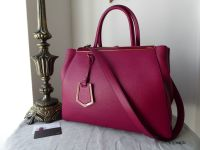 Fendi 2jours Medium in Amarena Cherry Vitello Calfskin