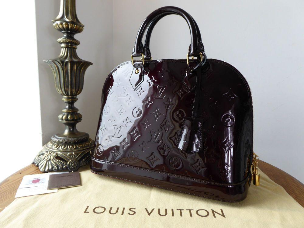 Louis Vuitton Alma PM in Amarante Monogram Vernis