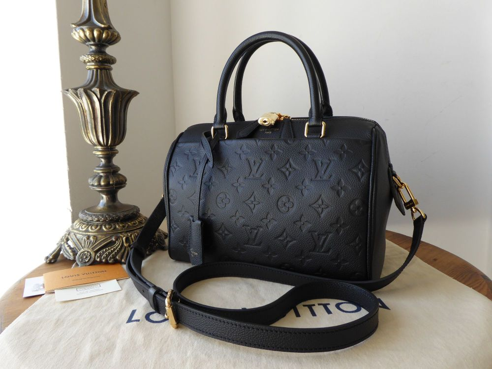 8c090dcbd01a Louis Vuitton Speedy Bandoulière 25 in Monogram Empreinte Noir - As New -  SOLD