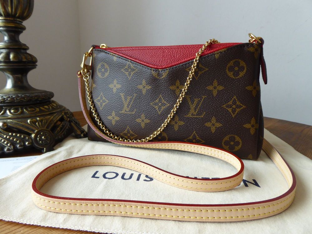Louis Vuitton Pallas Clutch Monogram Cherry