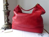 Mulberry Large Effie Hobo in Bright Red Spongy Pebbled Leather