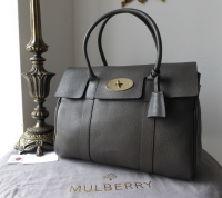 Mulberry Classic Heritage Bayswater in Mole Grey Small Classic Grain  - SOLD