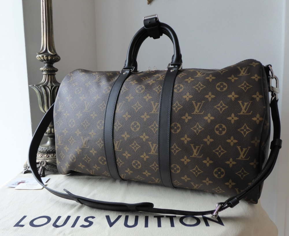 725c0701c45 Louis Vuitton Keepall Bandouliere 45 Monogram Macassar without Luggage Tag