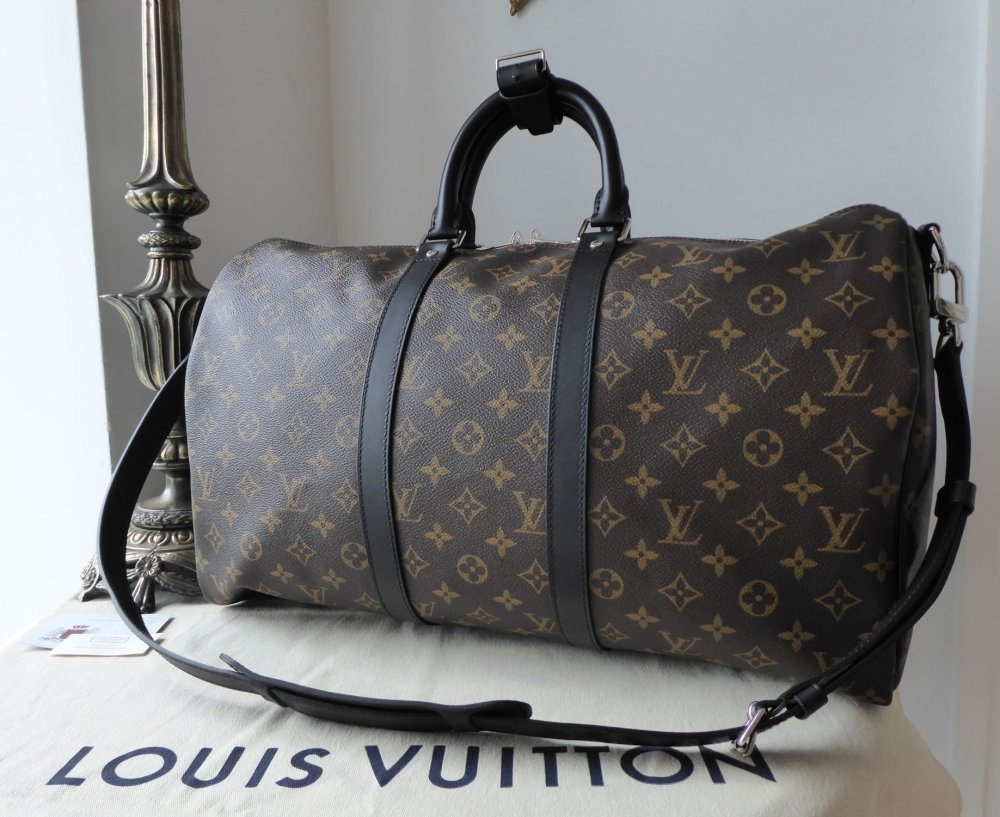 Louis Vuitton Keepall Bandouliere 45 Monogram Macassar without Luggage Tag
