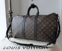 Louis Vuitton Keepall Bandouliere 45 Monogram Macassar without Luggage Tag - New - SOLD