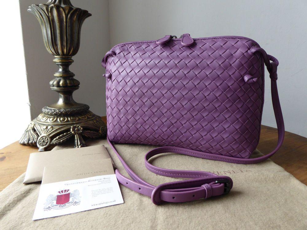 Bottega Veneta Nodini Medium Crossbody Shoulder Bag in Corot Intrecciato Na