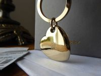 Mulberry Metal Heart Keyring in Soft Gold - New - SOLD
