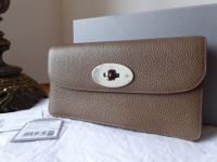 Mulberry Classic Long Locked Purse in Taupe Small Classic Grain with Silver Hardware - SOLD