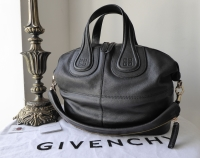 Givenchy Nightingale Medium in Black Grainy Calf Leather