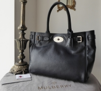Mulberry Classic Bayswater Tote in Midnight Blue Glossy Goat with Silver Nickel Hardware - SOLD