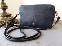 Mulberry Cara Camo Zipped Pochette Wristlet in Navy Blue Camo Printed Goat - SOLD