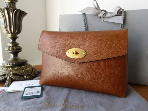 9899a2dbf0 ... 50% off mulberry large darley clutch cosmetic pouch in oak natural grain  leather new sold
