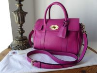 Mulberry Classic Small Bayswater Satchel in Hot Fuschia Spongy Pebbled Leather