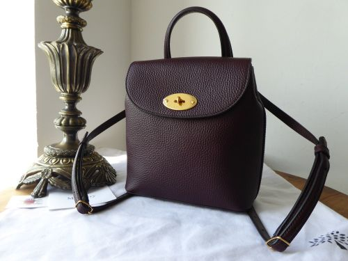 88424f3e67e5 Mulberry Mini Bayswater Backpack in Oxblood Grained Vegetable Tanned Leathe