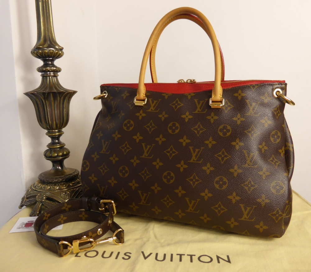 Louis Vuitton Pallas MM Tote in Monogram and Cherry
