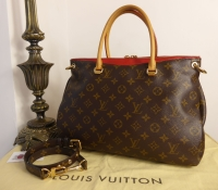 Louis Vuitton Pallas MM Tote in Monogram and Cherry  - SOLD