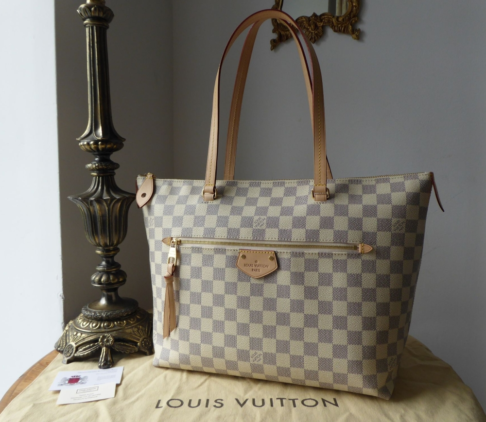 Louis Vuitton Iena MM in Damier Azur with Rose Ballerine Lining - As New