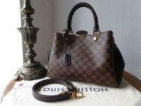 Louis Vuitton Brittany in Damier Ebene and Noir Cuir Taurillon