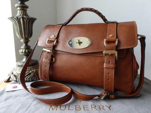 7f0fad48cbb Mulberry Regular Alexa in Oak Polished Buffalo Leather - SOLD