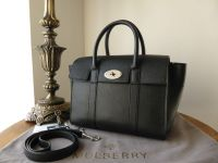 Mulberry Small New Bayswater in Black Small Classic Grain Leather