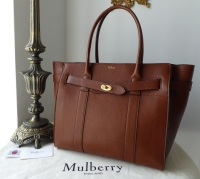 Mulberry Large Zipped Bayswater in Oak Natural Grain Leather - SOLD
