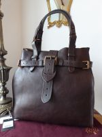 Mulberry Vintage Elgin in Chocolate Natural Leather with Bronze Hardware - SOLD