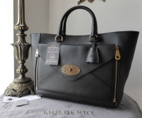 Mulberry Large Willow Tote in Black Silky Classic Calf Leather