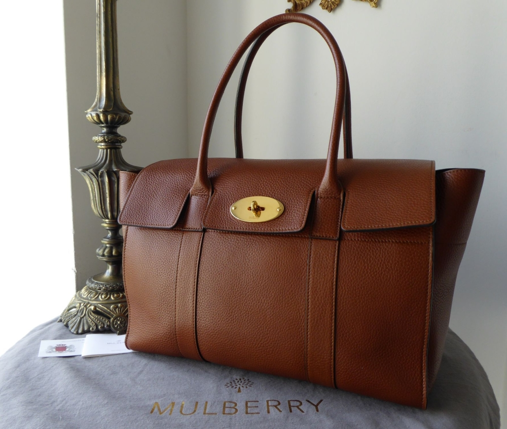 Mulberry New Bayswater in Oak Natural Grainy Vegetable Tanned Leather