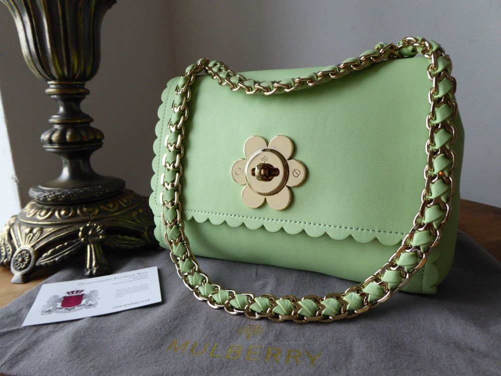 Mulberry Regular Cecily Flower in Mint Classic Calf Leather
