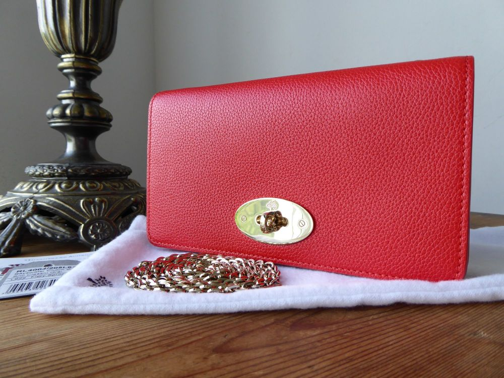 Mulberry Bayswater Shoulder Clutch Wallet in Fiery Spritz Small Classic Gra