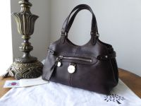 Mulberry Mini Somerset Tote in Chocolate Tumble Grain Leather with Silver Hardware - SOLD