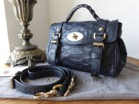 Mulberry Mini Alexa in Nightshade Large Silky Snake Printed Leather - SOLD