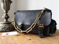 Mulberry Vintage Brooke Satchel in Black Darwin Leather