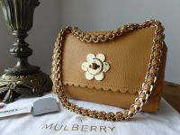 Mulberry Regular Cecily Flower Shoulder Bag in Biscuit Brown Glossy Goat - SOLD