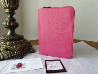 Mulberry Tudor Zip Around Small Notebook Folio in Hot Pink Soft Spongy Leather - SOLD