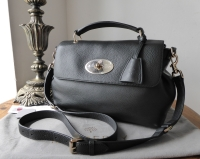 Mulberry Postmans Lock Satchel in Black Spongy Pebbled Leather - SOLD