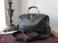 Mulberry Hetty Small Clipper in Black Soft Matte Leather - SOLD
