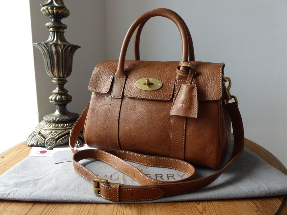 Mulberry Classic Small Bayswater Satchel in Oak Natural Leather