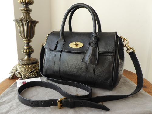 b5a8462405 best mulberry classic small bayswater satchel in black natural leather  f0a9b b866e