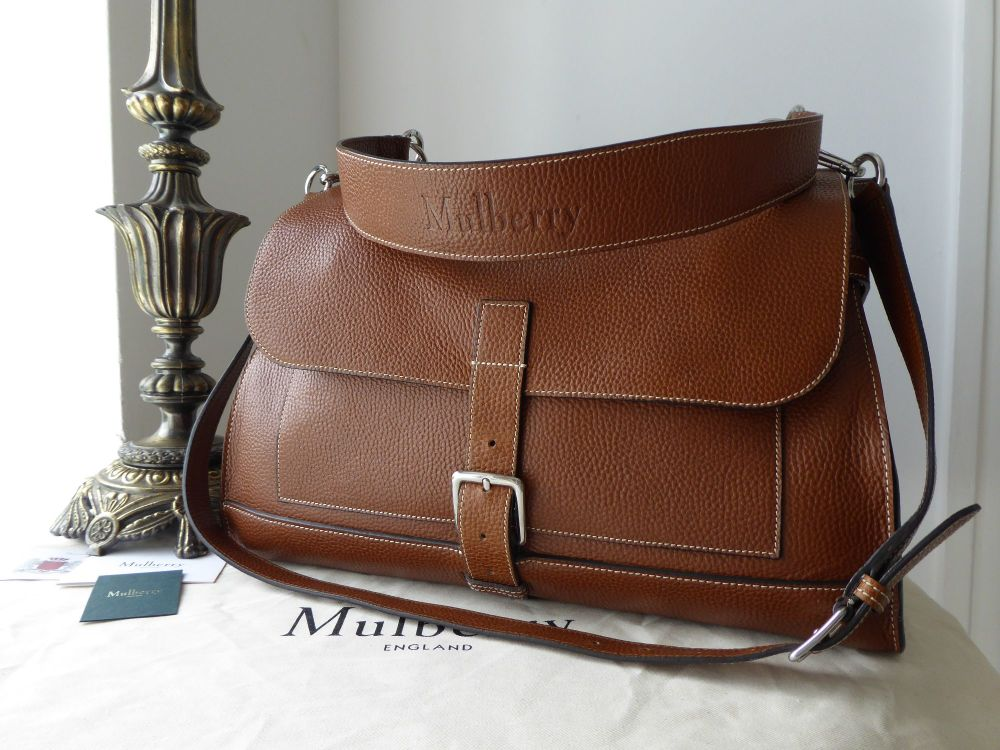 Mulberry Large Chiltern Satchel in Oak Grain Vegetable Tanned Leather