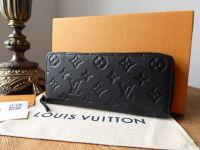 Louis Vuitton Clemence Zippy Wallet in Monogram Empreinte Noir - SOLD