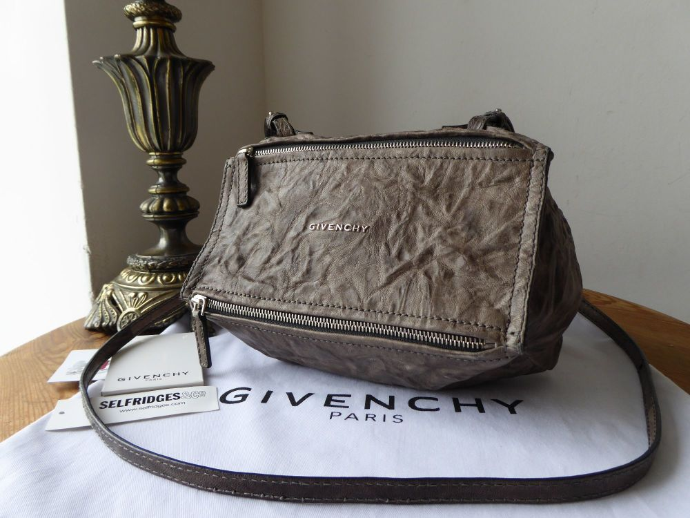 Givenchy Mini Pandora in Charcoal Grey Aged Sheeps Leather