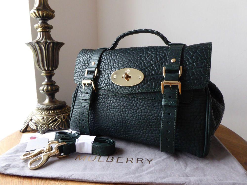 Mulberry Regular Alexa in Pheasant Green Shrunken Calf Leather -