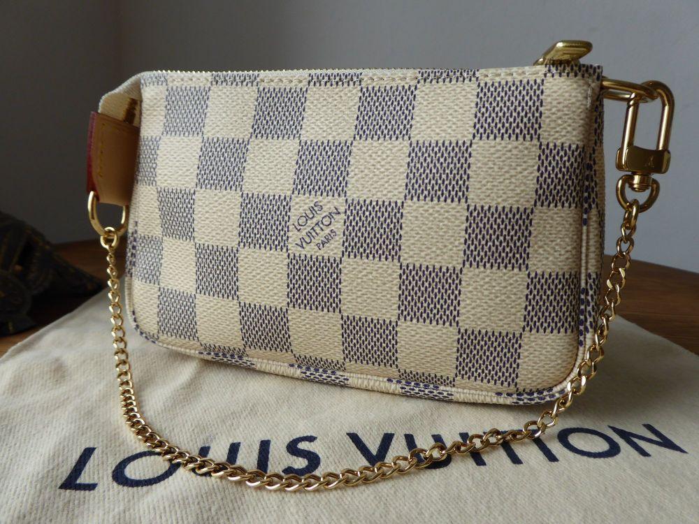 Louis Vuitton Mini Pochette Accessoires in Damier Azur - New*