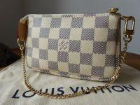 Louis Vuitton Mini Pochette Accessoires in Damier Azur - SOLD