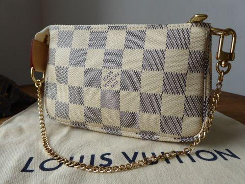 d237f00ffd96 Louis Vuitton Mini Pochette Accessoires in Damier Azur - SOLD