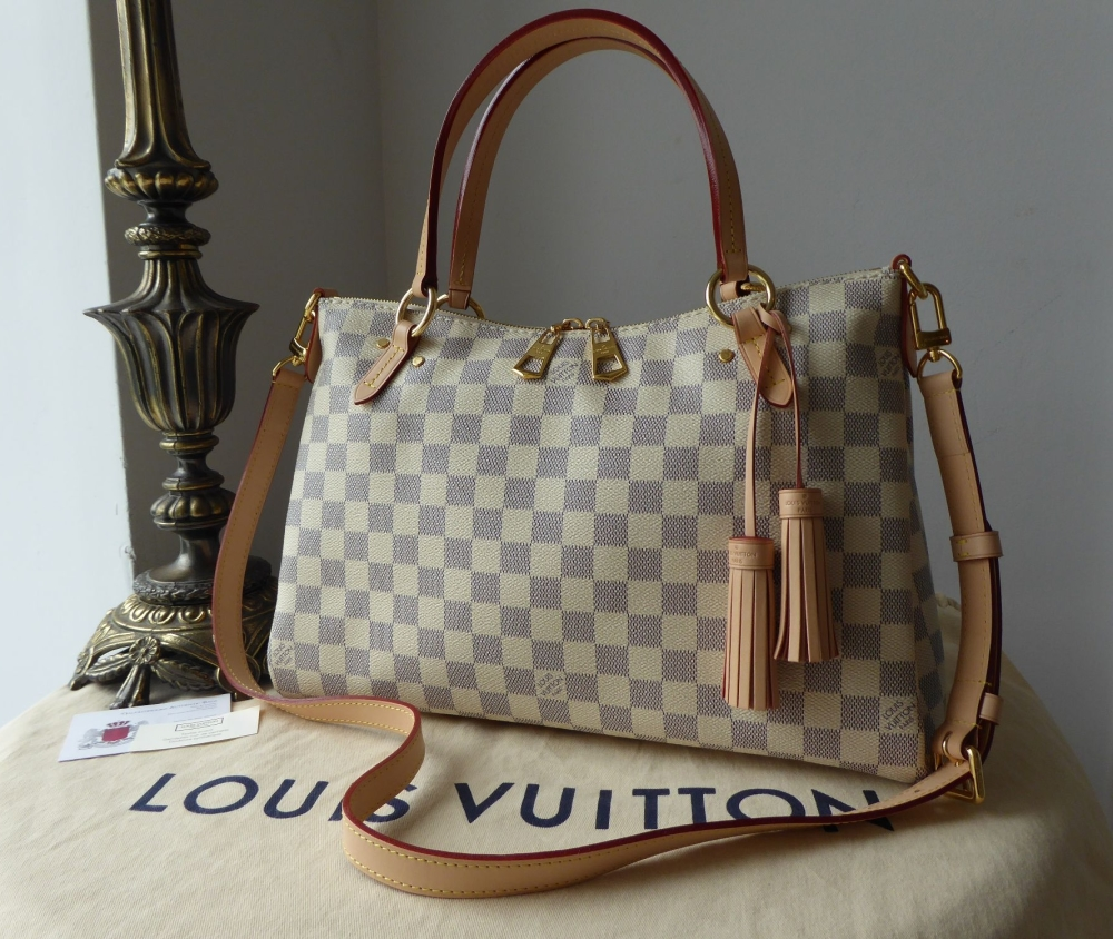 Louis Vuitton Lymington in Damier Azur Rose Ballerine