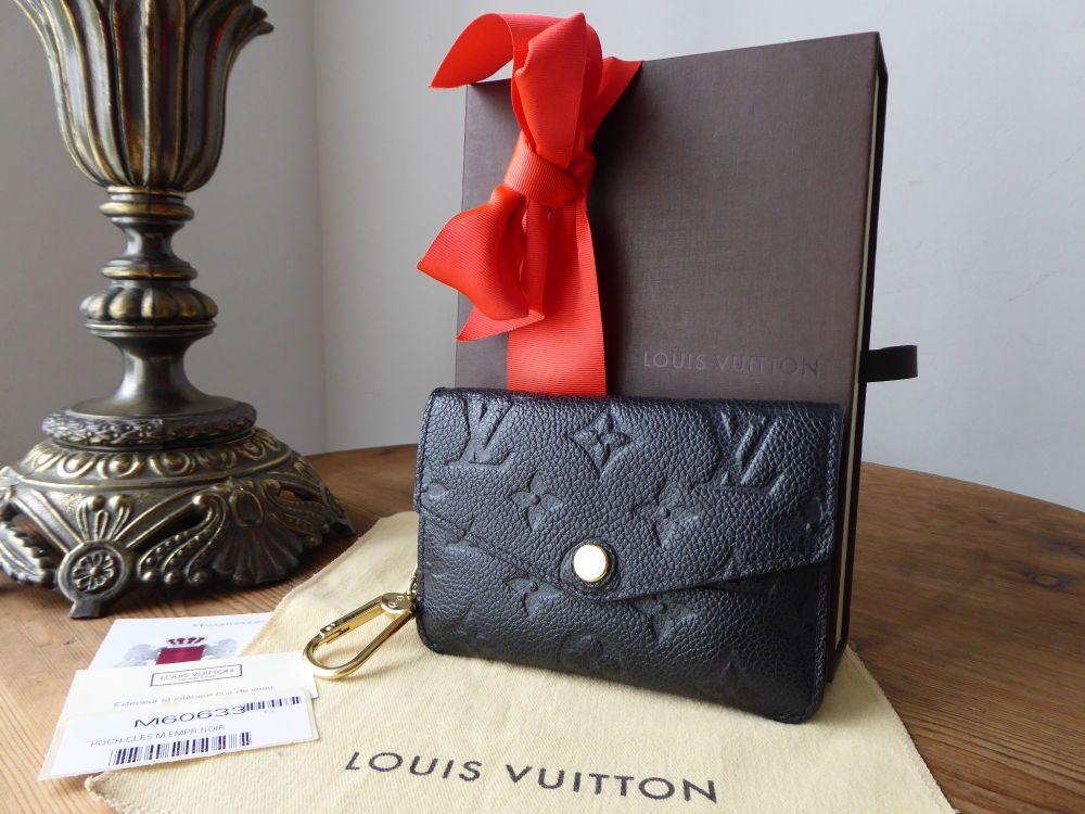 Louis Vuitton Key Pouch in Noir Empreinte