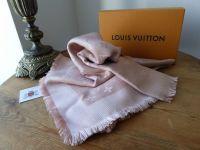 Louis Vuitton Monogram Shawl in Natural Silk Wool Mix - SOLD