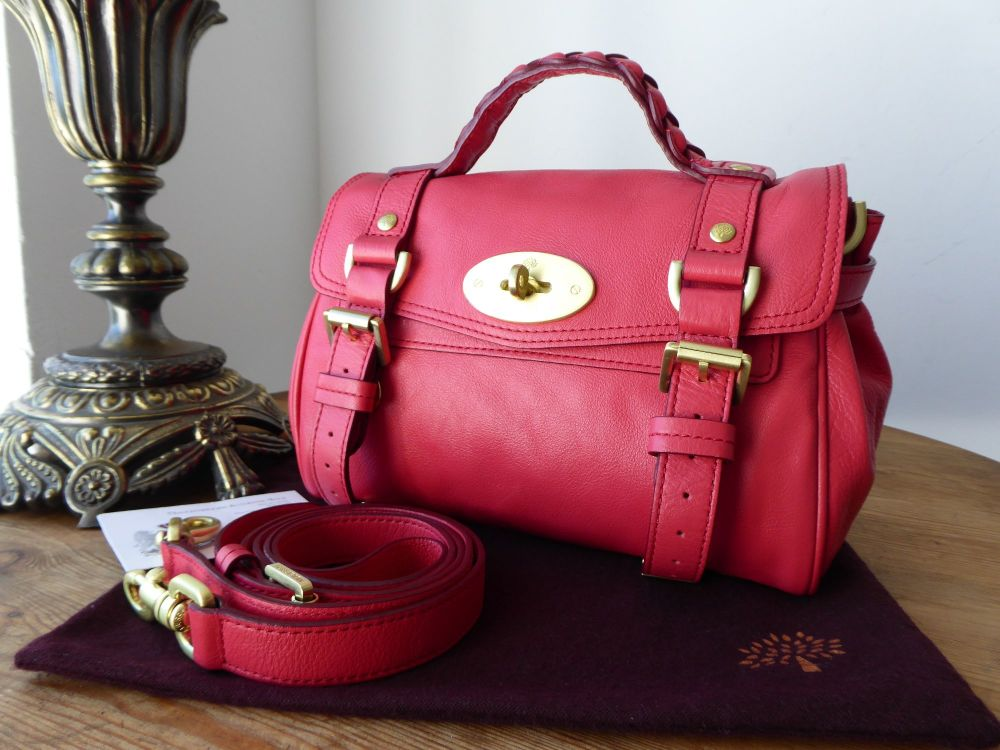 Mulberry Mini Alexa in Watermelon Soft Buffalo with Felt Liner and Pillo